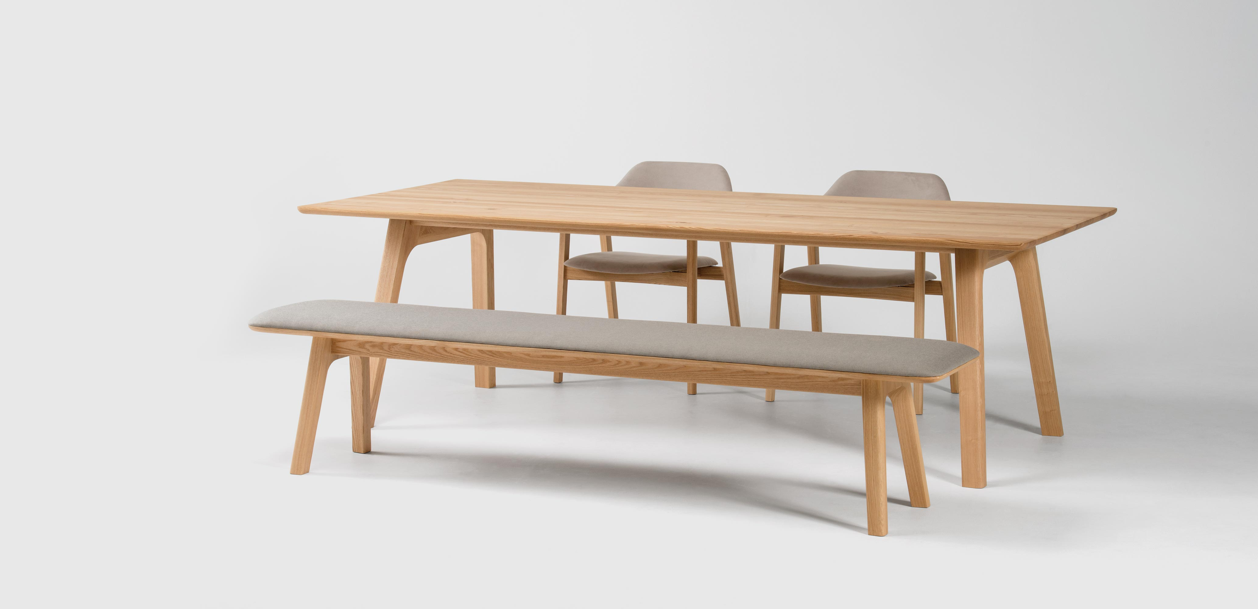 TEN table and bench, Conde House